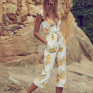Lemon Jumpsuit – For Love and Lemons – BRAND NEW